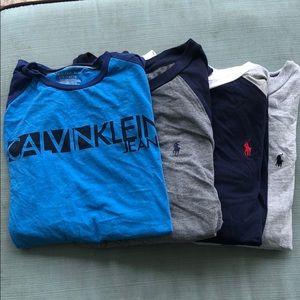 For size large boys long sleeve shirts polo Calvin